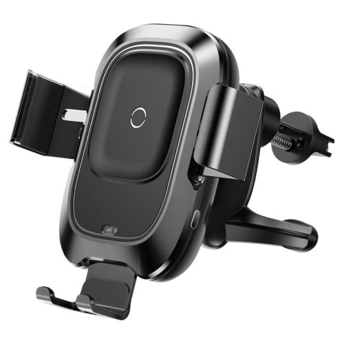 Baseus Smart Cell Phone Holder With Wireless Charging Black