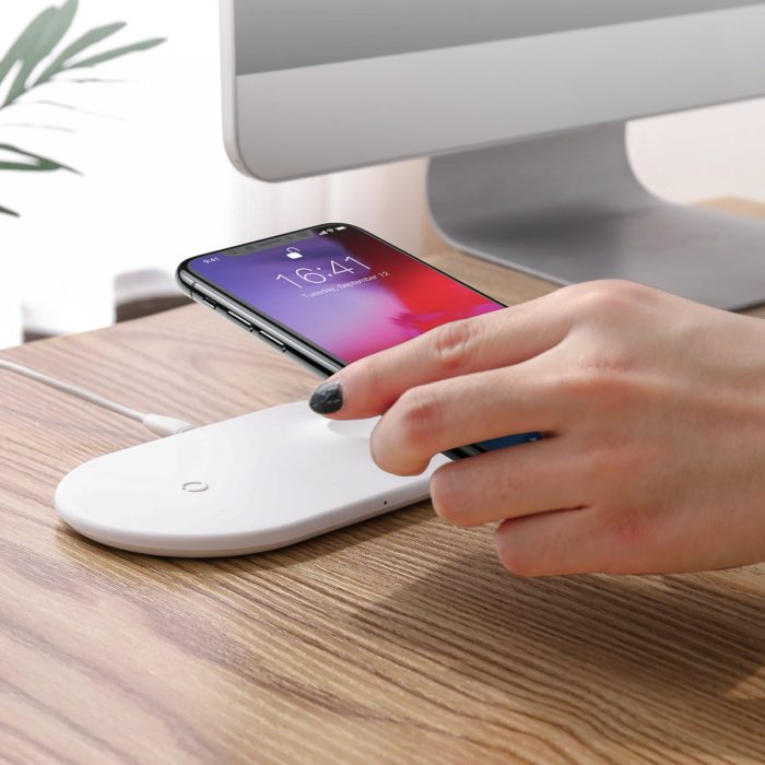 Baseus Smart 2 in 1 Type-C Wireless Charger White